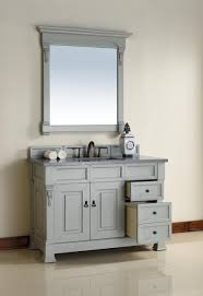 abstron 48 inch grey finish single traditional bathroom vanity