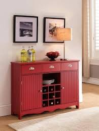 Wood Wine Cabinet Red Wood Wine Rack Sideboard Buffet Display Console Table With