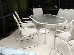 mesh patio furniture youtube