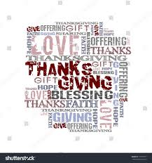 thanksgiving words giving thanksgiving offering blessing background words stock