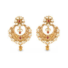 gold necklace jewellery images Buy antara chandbali gold earring for women online best antara png