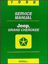 1998 jeep grand manual 1998 jeep grand repair shop manual original