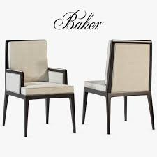 baker carmel cane dining side chair and armchair 3d model max