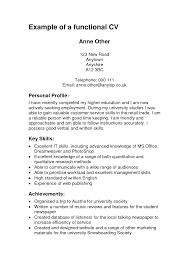 Sample Of A Good Resume Example Of A Functional Resume Berathen Com