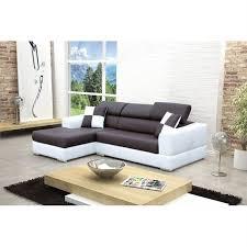 canapé d angle blanc et noir canape d angle gauche design noir et blanc madrid achat vente