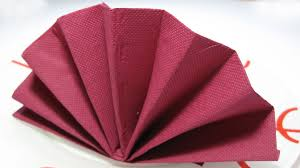 how to make table napkins table decoration standing fan napkin fold tutorial youtube