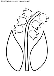 coloriage muguet pour le 1er mai  muguet maternelle  Pinterest