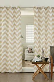 best home fashion inc velvet chevron printed grommet curtains