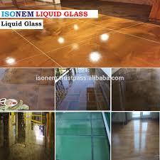 isonem liquid glass building material transparent flooring