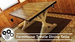 Farm Table Pictures by Diy Building Farmhouse Table Youtube