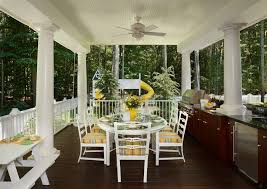 backyard deck ideas deck traditional with beams covered patio deck