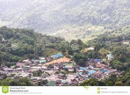Hmong Map Aerial View Doi Pui Hmong Village Stock Photo Image 59811290