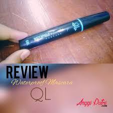 Maskara Ql review swatch ql waterproof and curling mascara anggi putri