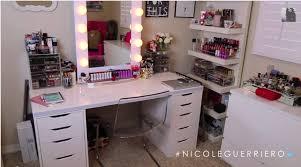 vanity desk with mirror ikea nicole guerriero vanity desk mirror vanity hollywood drawers