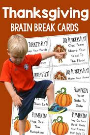 thanksgiving brain breaks brain cards brain breaks