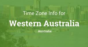 Utc Time Zone Map by Time Zones In Western Australia Australia