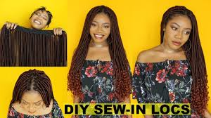 sewing marley hair new diy goddess locs tracks sew in faux locs install start to