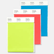 Yellow Swatches Pantone Nylon Brights Textile Swatch Card