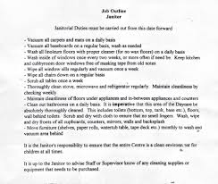sample resume janitorial work virtren com