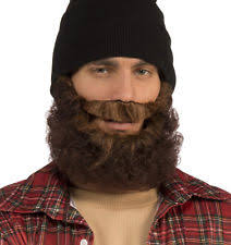 Halloween Hobo Costume Medieval Hobo Brown Curly Beard Mustache Halloween Costume