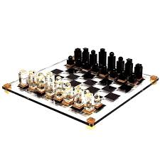 unusual chess sets michel dumas lucite chess set at 1stdibs