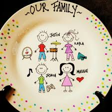 personalized serving platter ceramic personalized ceramic plates family stick figure plate can
