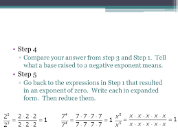 lesson 6 6 zero and negative exponents ppt download
