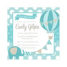 Baby Shower Invitation Card Sample Air Balloon Baby Shower Invitations Themesflip Com