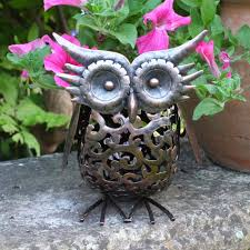 smart garden metal scroll owl solar light co uk garden