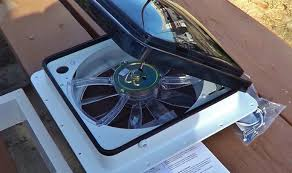installing the fantastic vent fan into our rv