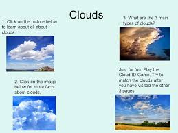 3 kinds of clouds the wonderful world of weather ppt