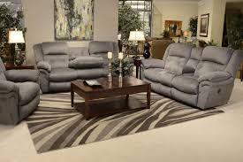 Grey Sofa Recliner by Power Reclining Sofa With Drop Down Table By Catnapper Wolf And