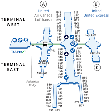 United Airlines Baggage Denver International Den Airport Map United Airlines