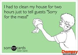 Clean House Meme - i had to clean my house for two hours just to tell guests sorry for