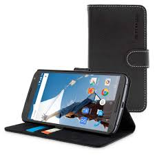 nexus snugg nexus 6 flip case cover in black leather available online