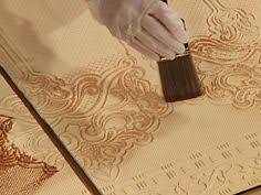 Embossed Paintable Wallpaper How To Hand Paint Embossed Wallpaper From The Diy Network Diy