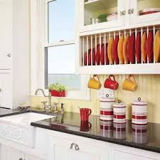 Under Cabinet Dish Rack Store It With Built In Cabinets Coast Design