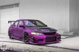 purple mitsubishi lancer mitsubishi lancer evolution
