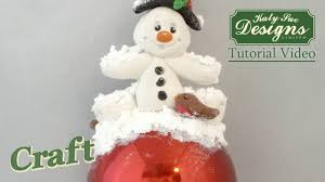 sugar buttons snowman character made with air drying clay youtube