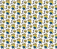 minion wrapping paper bigger i minions despicable me fabric by awietylexi on