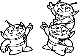toy story alien coloring page wecoloringpage