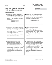 free worksheets subtracting fractions with different