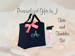 bridesmaid gift bag 5 personalized bridesmaid tote bag and water bottle set