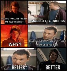 Eat A Snickers Meme - anakin eat a snickers 9gag