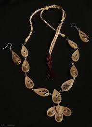 leaf pattern necklace buy handmade leaf pattern jewellery set online giskaa com giskaa