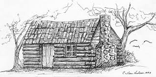 log cabin drawings the family face he was born in a log cabin