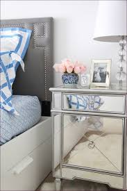 Nightstand Size Bedroom Mirrored 2 Drawer Side Table Small Nightstand With