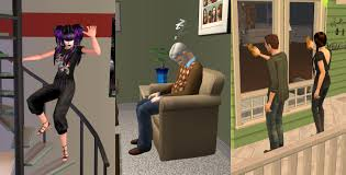 Sliding Down Banister Mod The Sims Hidden Interactions Enabled