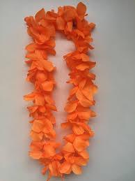 flower leis hawaiian orange luxury vw rear view mirror garland