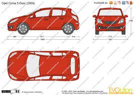 opel corsa 2008 the blueprints com vector drawing opel corsa d 5 door
